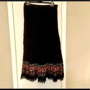 NEW Anu velvet maxi skirt